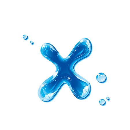 ABC series - Water Liquid Letter - Small Letter x