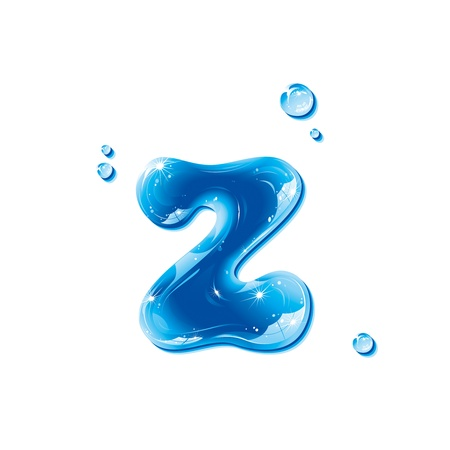 water liquid letter: ABC series - Water Liquid Letter - Small Letter z Illustration