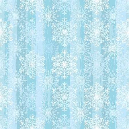 Seamless Snowflake Pattern, editable vector illustration - EPS8 Ilustracja