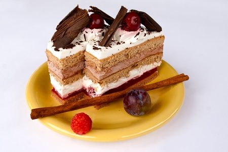 Black forest cake from Hungary Stock fotó