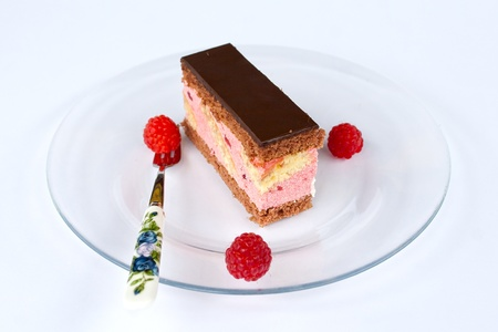 custard slices: Punch cake Stock Photo