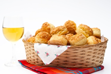 Hungarian butter scones and white wine Stock fotó