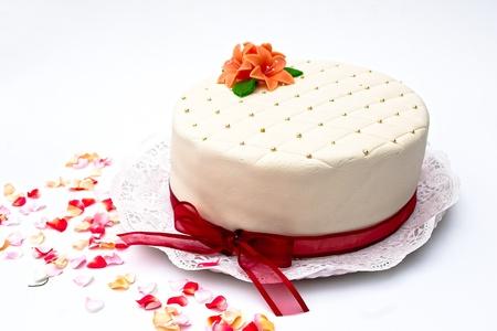 Festive marzipan cake