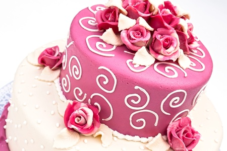 pink wedding: Wedding cake