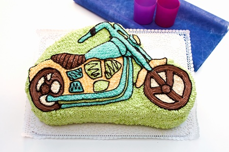 motorcycle (child) cake photo