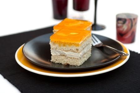 Dessert - Orange Cheesecake Stock Photo - 10333720