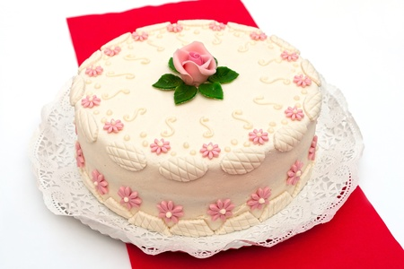 marzipan: Festive cake Stock Photo
