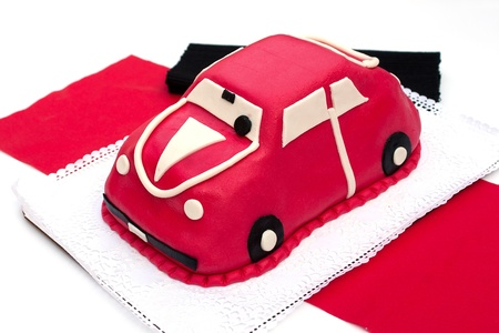 marzipan: Car-shaped marzipan cake