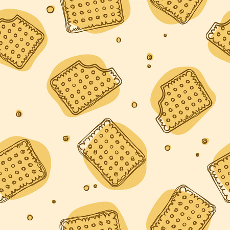 Crispy Crackers seamless texture in yellow colors