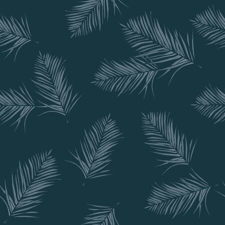 Tropical green leaves seamless pattern. Exotic wallpaper
