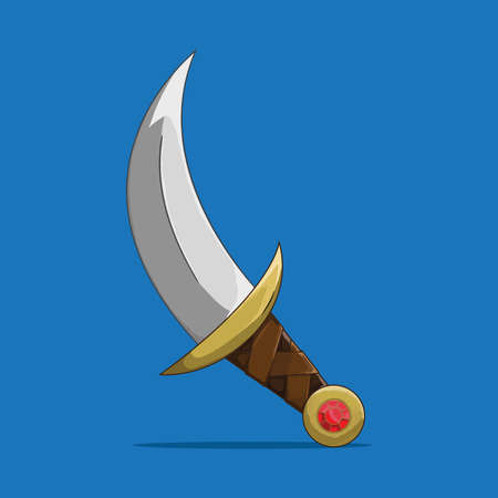 Cool Old Dagger vector illustration Çizim