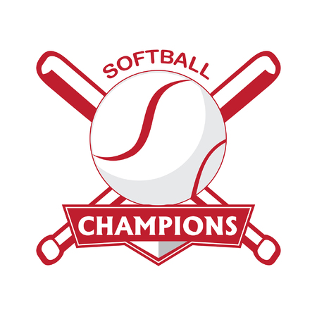 Softball brand template isolated on white