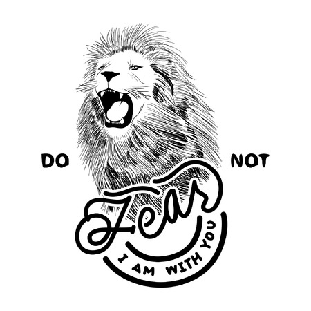 No fear like a Lion Stock Illustratie