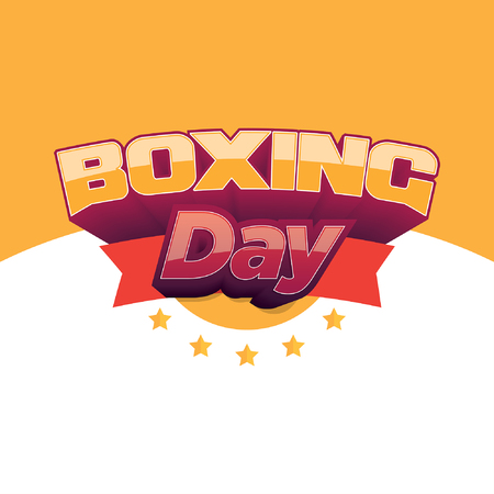 Boxing Day banner 矢量图像