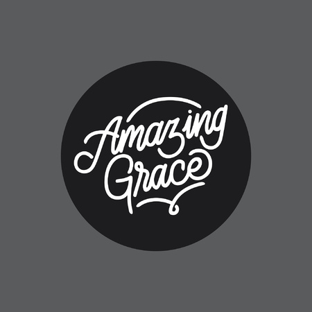 Amazing Grace handlettering typography