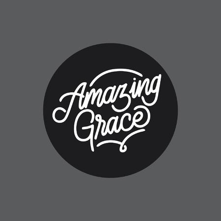 Tipografia handlettering di Amazing Grace