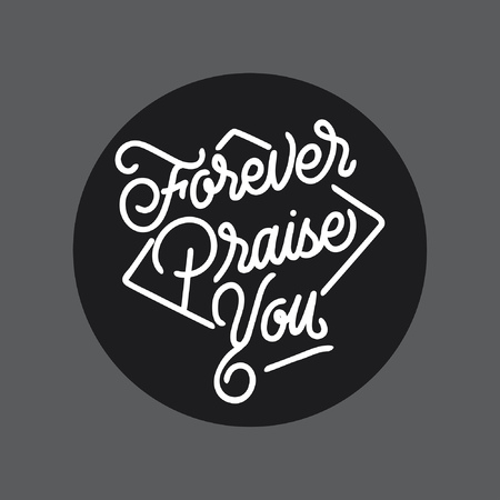 Worship handlettering typography Ilustrace