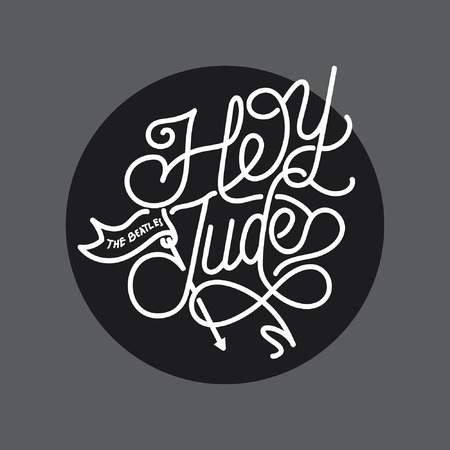 Hey Jude handlettering typography