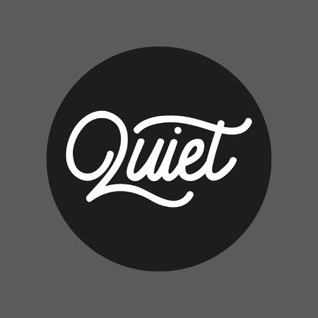 Quiet handlettering typography