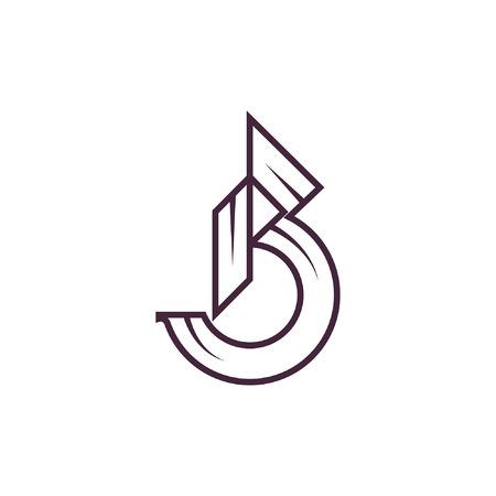 Letter B icon Ilustração