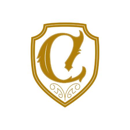 Shield letter C