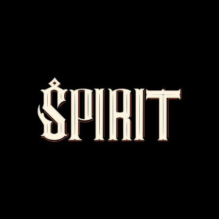 Icono de tipografía de espíritu