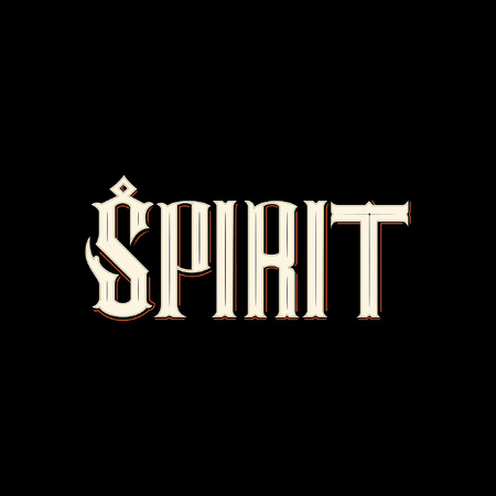 Spirit typography icon