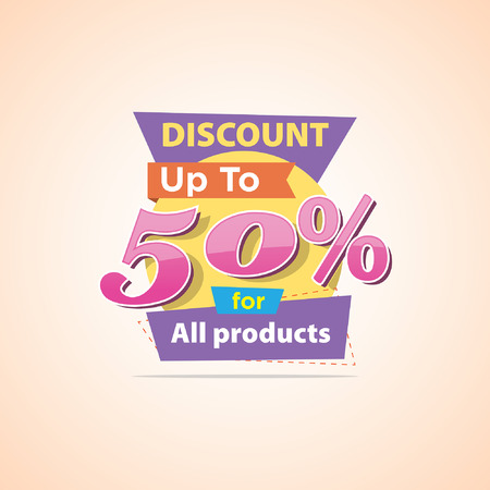 Big sale discount Ilustração