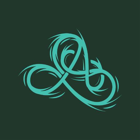 Letter A logo icon Ilustração
