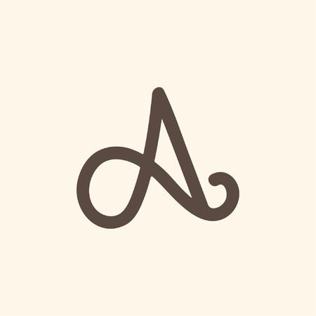 Simply Letter A logo Ilustração