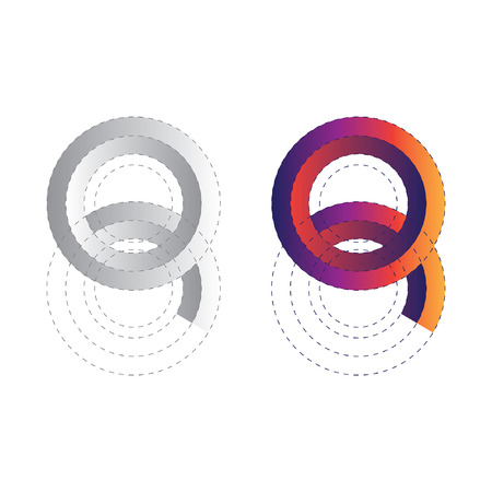 Number 8 and Letter Q logo icon