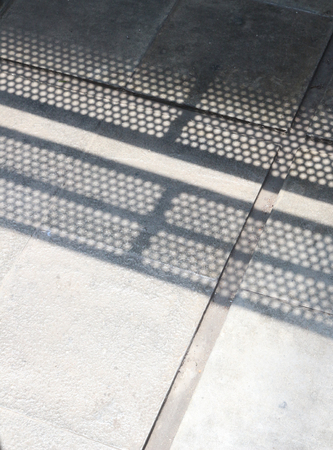 Circle Pattern on the concrete