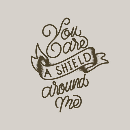 Handlettering typography p...are a shield around me