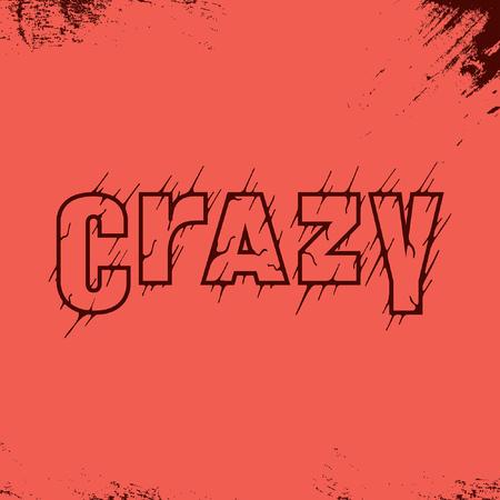 Crazy handlettering typography Ilustração