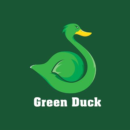 Green Duck Logo Ilustração