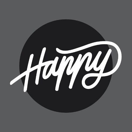 Happy handlettering typography