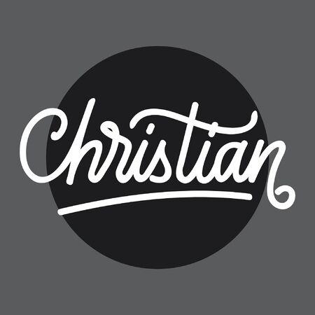 Christian handlettering typography Ilustracja