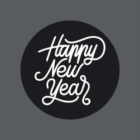 Happy New Year handlettering typography