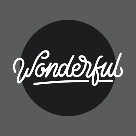 Wonderful handlettering typography