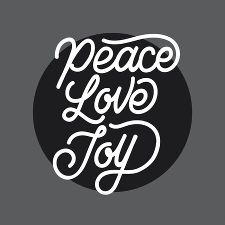 Peace Love Joy handlettering typography