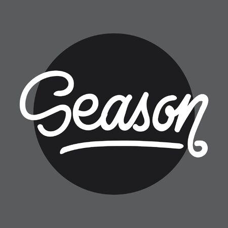 Season handlettering typography