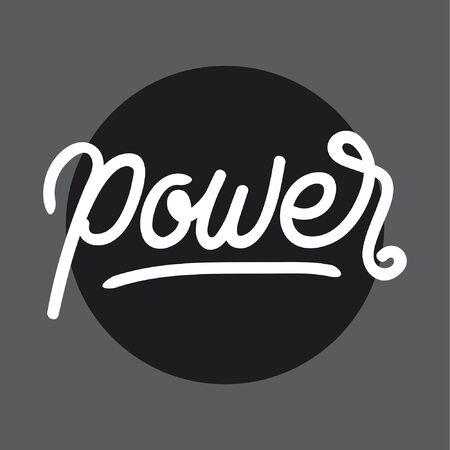 Power handlettering typography Ilustracja