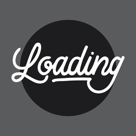 Loading handlettering typography