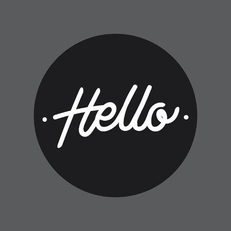 Hello hand lettering typography Ilustração