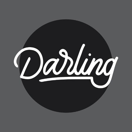 Darling hand lettering typography