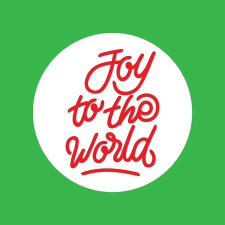 Joy to the world hand lettering typography