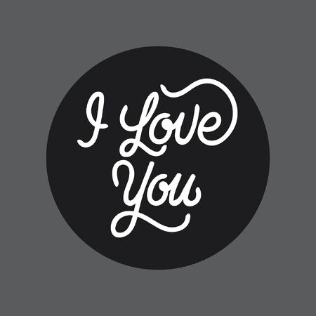 I love you hand lettering typography