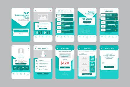 UI-Kit-Vorlage für Restaurant-Apps