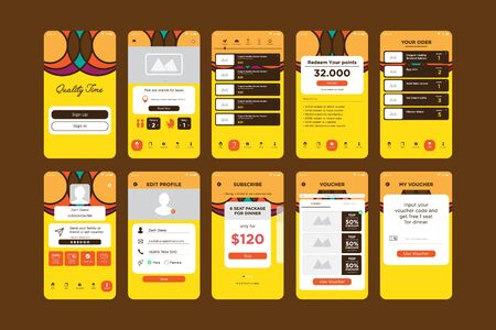 Colorful Bright App UI Kit Template