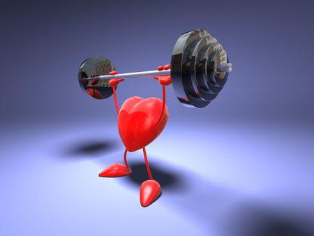 pesas: Musculación corazón